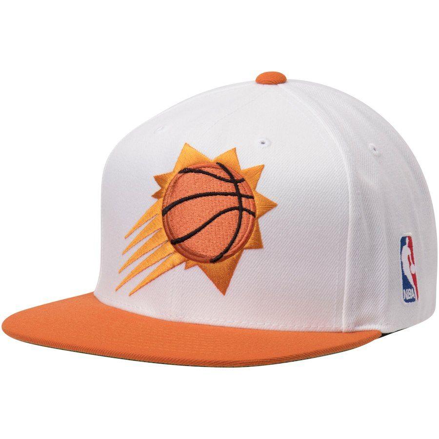 newest collection 24fdc cf619 Phoenix Suns Mitchell   Ness XL Team Logo Two-Tone Adjustable Snapback Hat  – White Orange