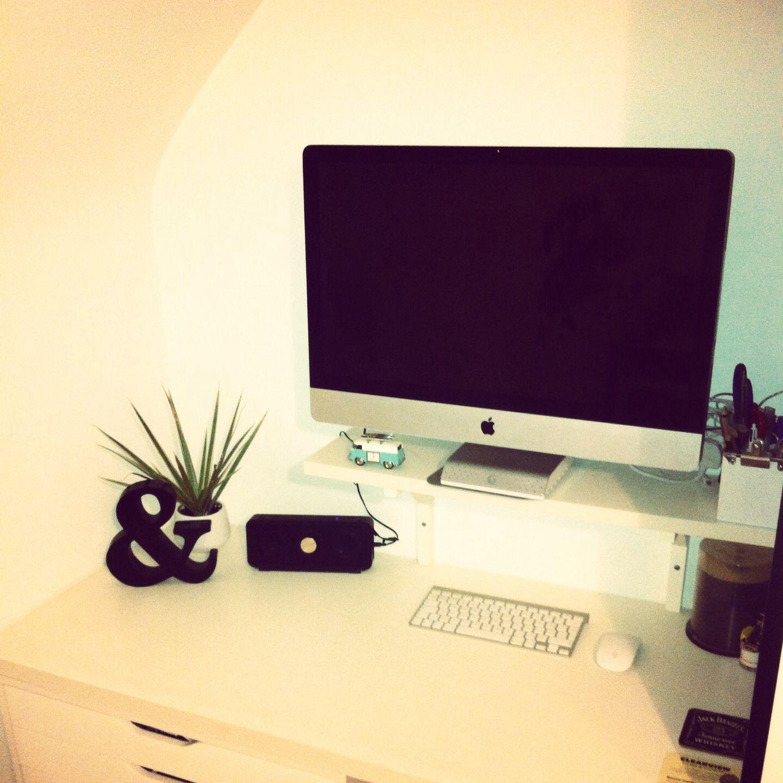 Home Office #Minimal #Imac #White #Desk #Office