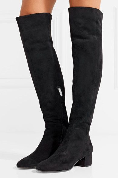 Gianvito Rossi 45 suede over the knee boots | Boots, Over