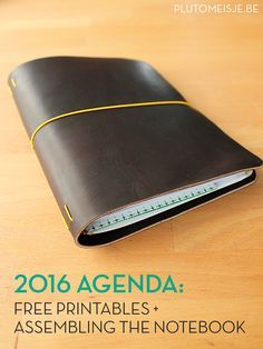 The 2016 agenda: a handmade Midori Traveler's Notebook cover and fitting inserts