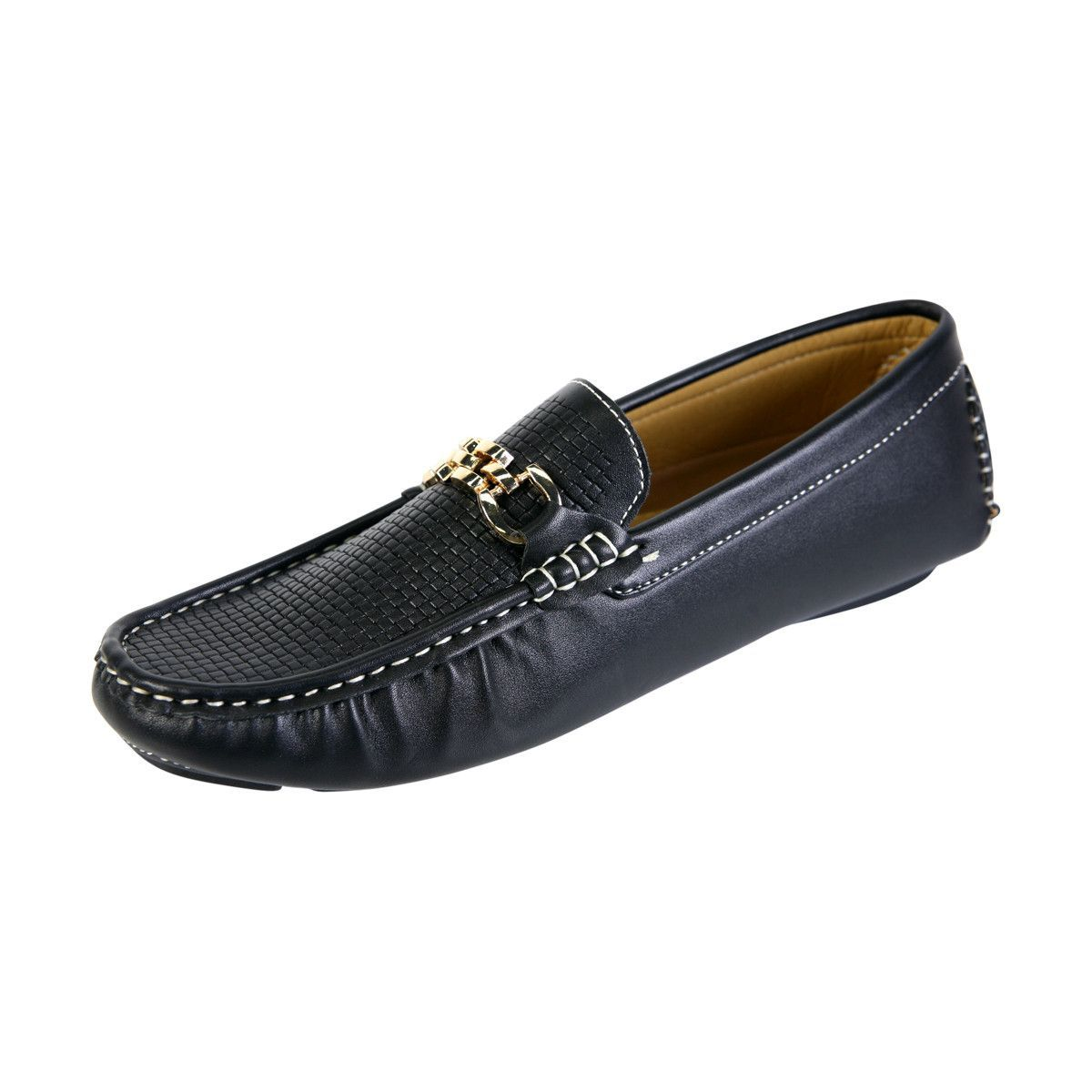 410fa49064f Marcovitale - Men s Driving Moc Buckle Driving Loafer - Black ...