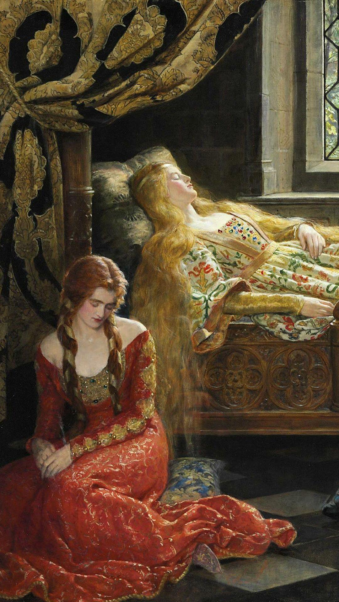 ジョン コリア Sleeping Beauty ポートレイト クラシックアート