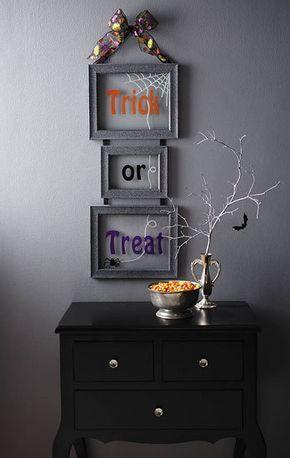 DIY Halloween Decor Frightfully Fun Frames Halloween in 2018 - fun homemade halloween decorations