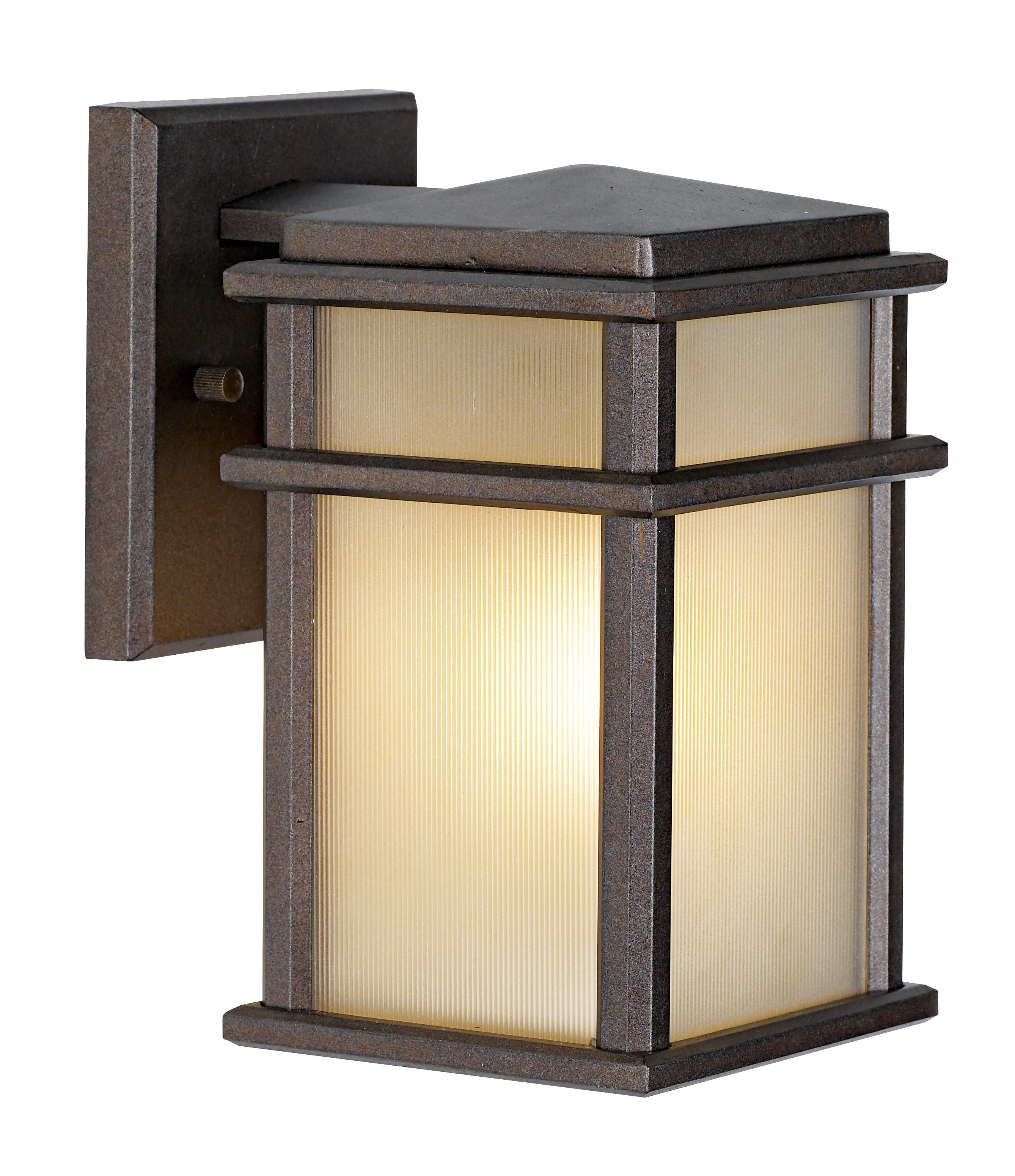 Feiss Mission Lodge Bronze Wall Mount 9 High Lantern 16963 Lamps Plus