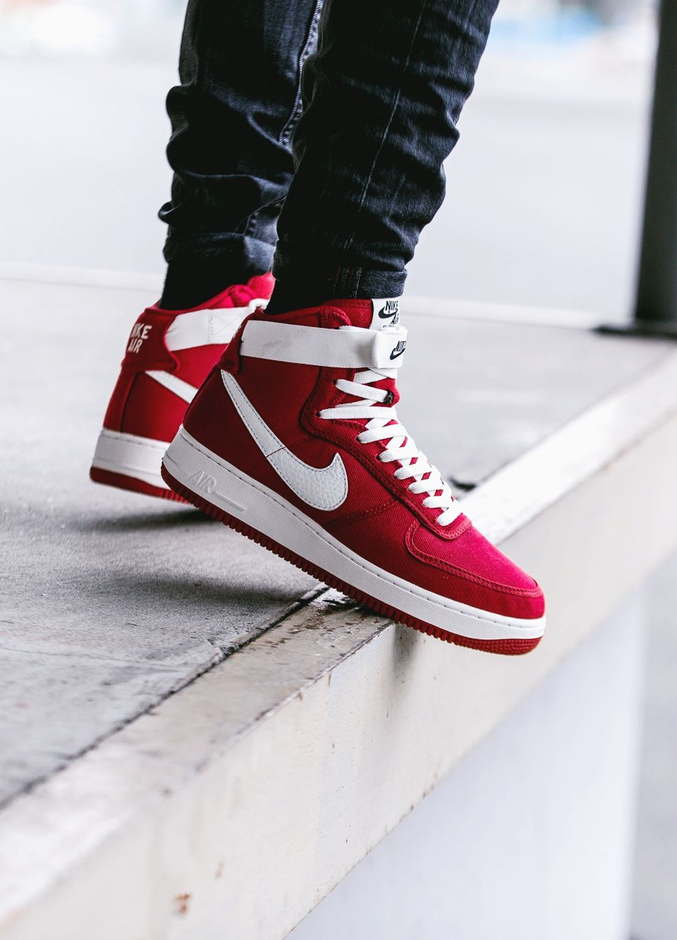 innovative design e738f 5cb42 Nike Air Force 1 High Retro Gym Red sneakers sneakernews