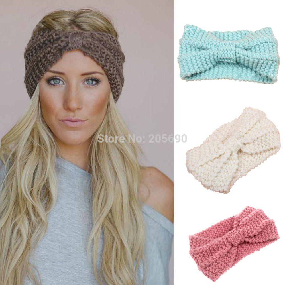 2015 nuevas mujeres de punto de ganchillo hairband diadema - Diademas a crochet ...