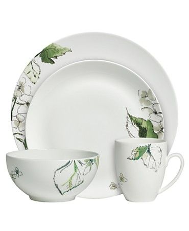 Vera Wang Wedgwood Floral Leaf Dinnerware Place Setting - Bed Bath u0026 Beyond  sc 1 st  Pinterest & Vera Wang Wedgwood Floral Leaf Dinnerwear | Inspiration: Imagery and ...