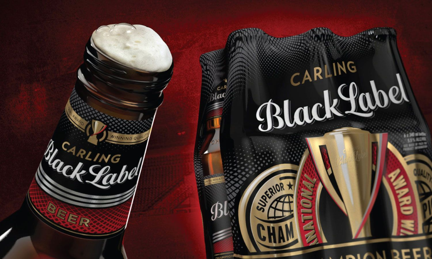 Bf H Design Beer Label Carling Black Label Beer