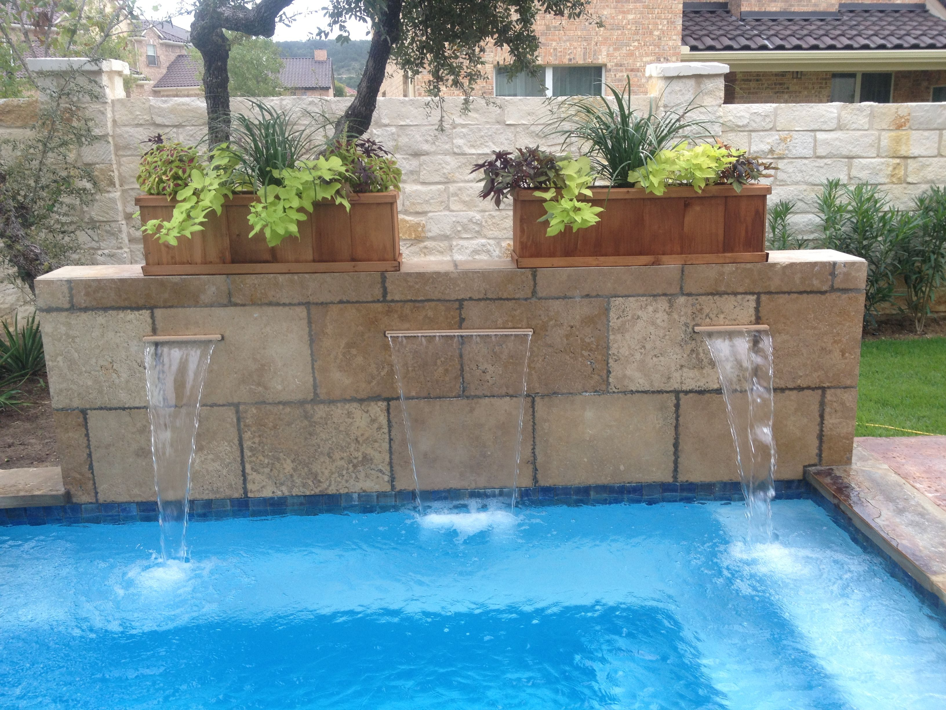 Travertine Tile Pool Travertine Tile Water Feature With Shear Dissentswood Duck