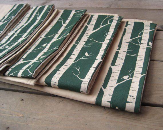 birch tree baby blanket
