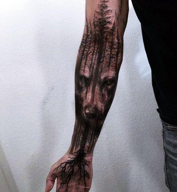 Photo of 40 Maskulin Wolf Tattoo Designs für Männer