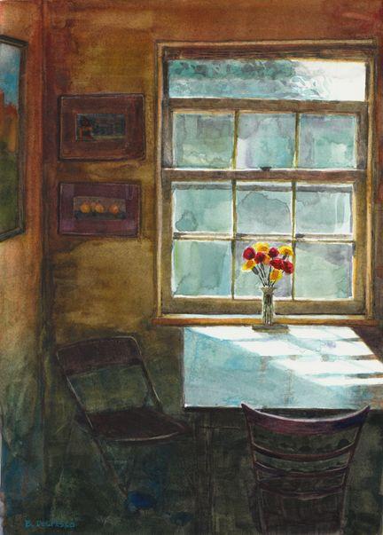 Watercolor Interior Breakfast Nook Belinda Del Pesco Interior Art Art Original Fine Art