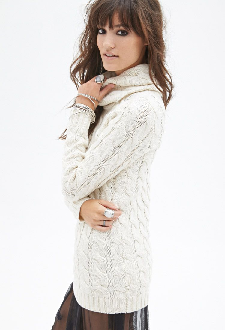 Cable Knit Turtleneck Sweater | Forever 21 Canada | Fall Lookbook ...