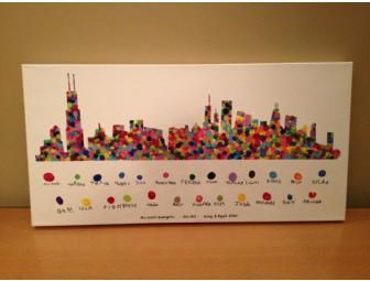 Kindergarten-(Mrs. Girard) Chicago Fingerprint Skyline - BiddingForGood Fundraising Auction