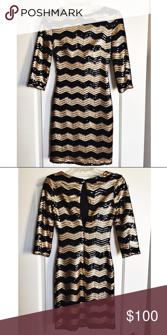 Gianni Bini Black And Gold Sequin Dress In 2018 My Posh Closet