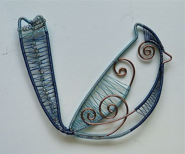 Woven Wire Blue Jay Blue Bird | Blue jay, Wire and Birds