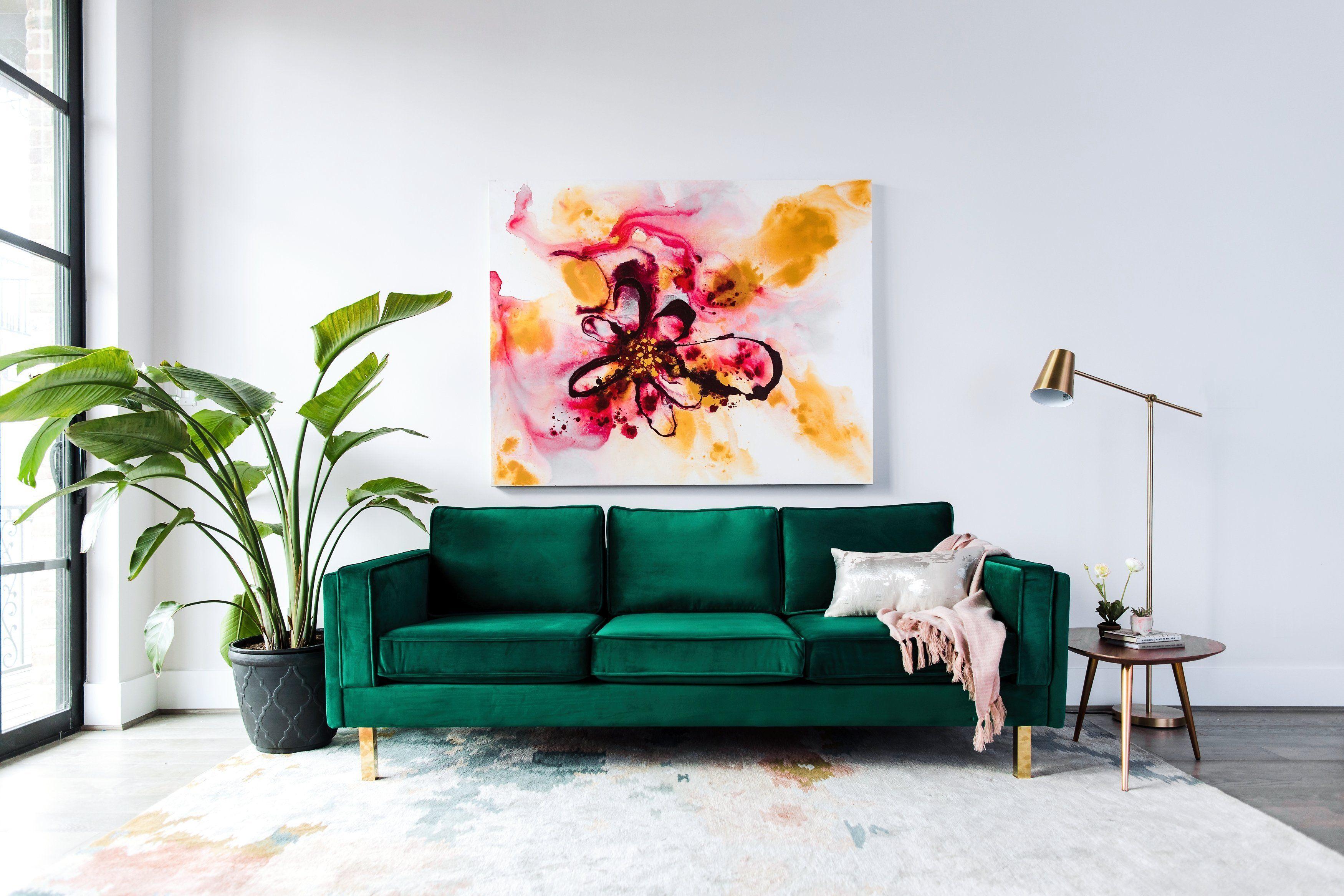 Peachy Lexington Velvet Sofa Green Edloe Finch Furniture Co Bralicious Painted Fabric Chair Ideas Braliciousco