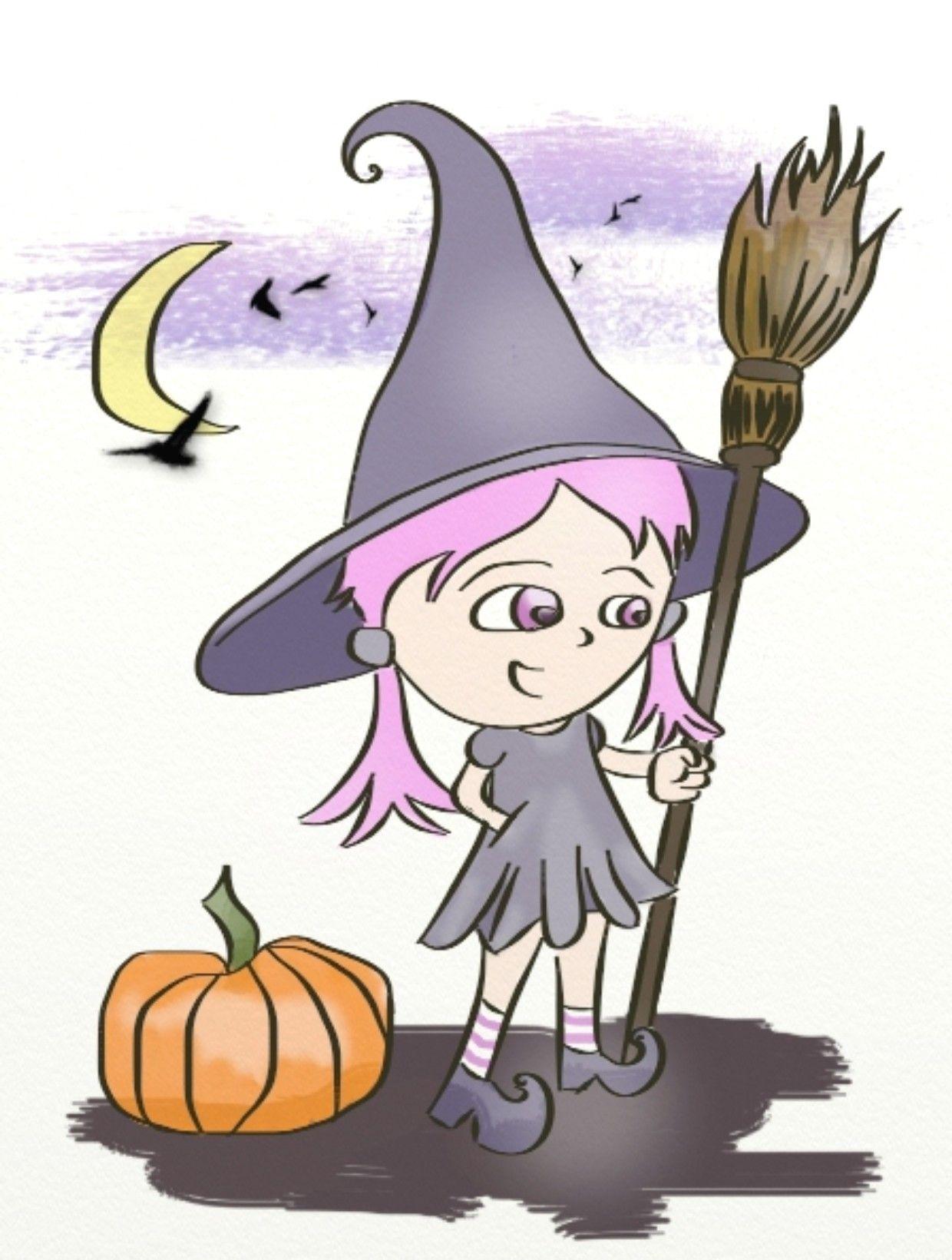 Dessin en couleurs imprimer ev nements halloween sorci re num ro 267182 brujitas - Image de sorciere a imprimer ...