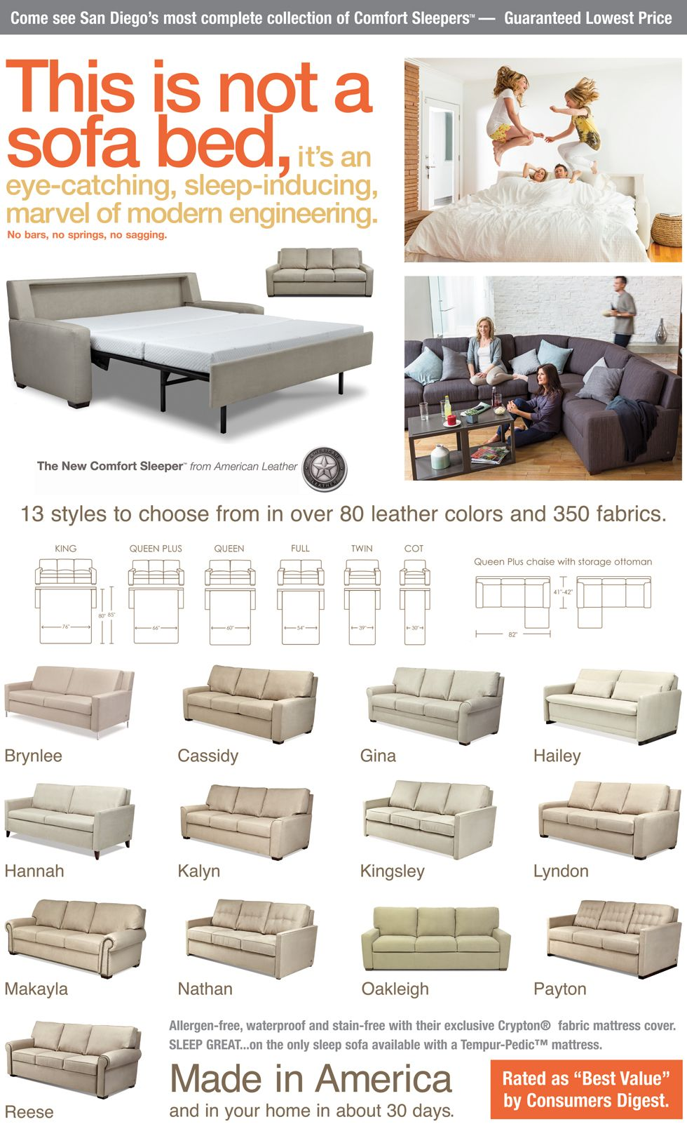Comfort Sleeper By American Leather Is The Most Luxurious Sofa Sleeper You Can Buy Comfort Sleeper Luxury Sofa Home Decor