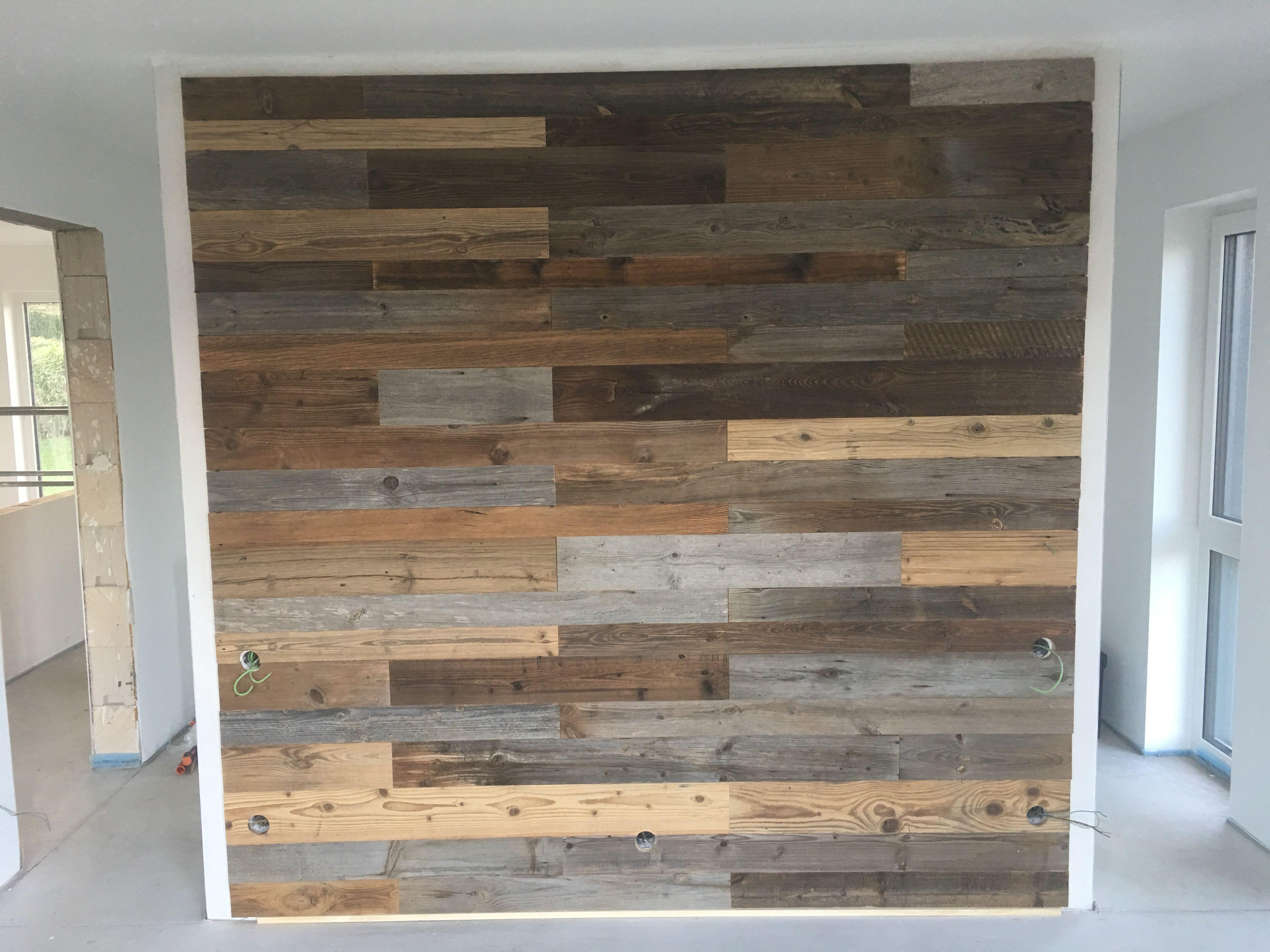 Altholzwand Holzwand Schlafzimmer