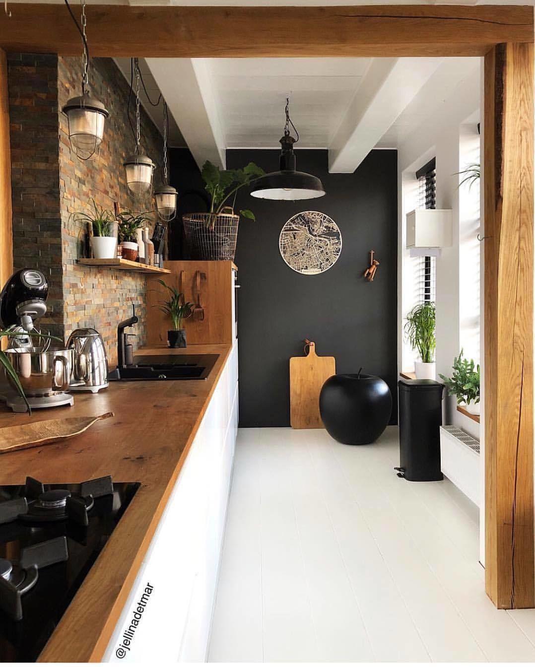 Inspiring kitchen black paint accent wall by jellinadetmar also best small design ideas studios in rh pinterest