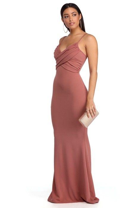 Elaine Mauve Ruched Formal Dress Mauve Formal And Hoco Dresses