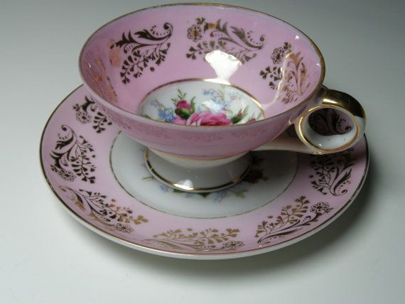Vintage Pink Royal Sealy China Tea Cup and Saucer by LorettasCache, $23.50