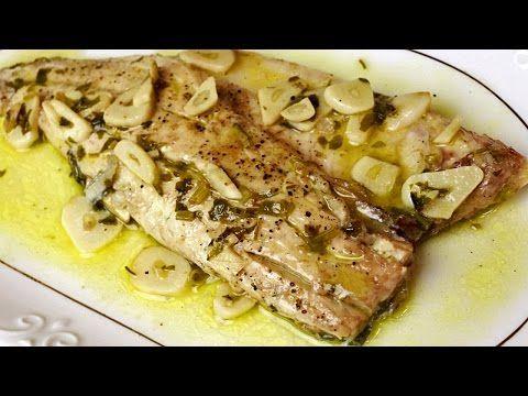 Un viandante in cucina: Lubina al ajillo - Filete de pescado blanco en sal...
