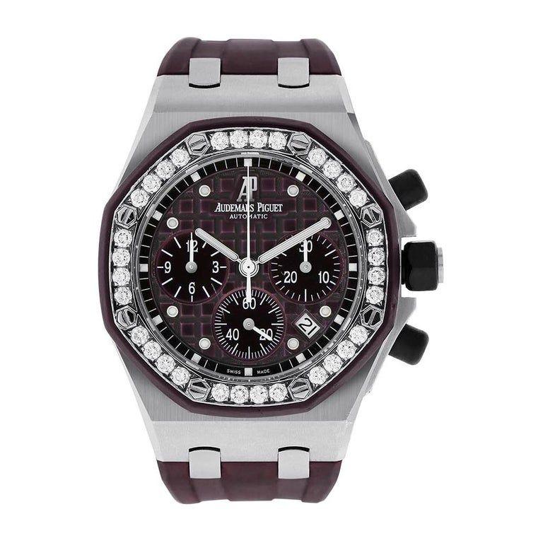 Audemars Piguet Royal Oak Offshore Steel Purple Watch 26048sk Zz