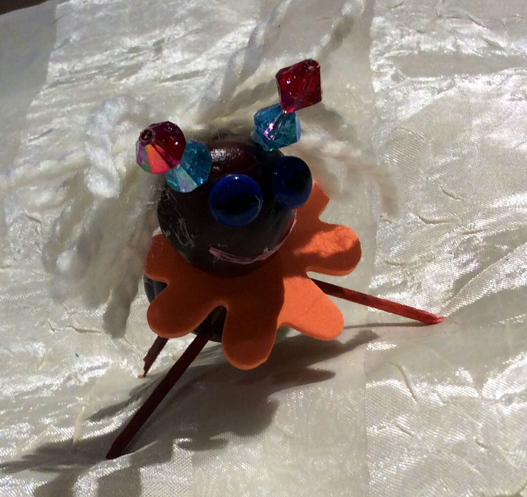 Lady Ant Made Of Chestnut Perfect Idea For Fall Crafts With Kids Fallcraftwithchestnut Chestnut Chestnutcraft Fall Crafts Crafts For Kids Crafts