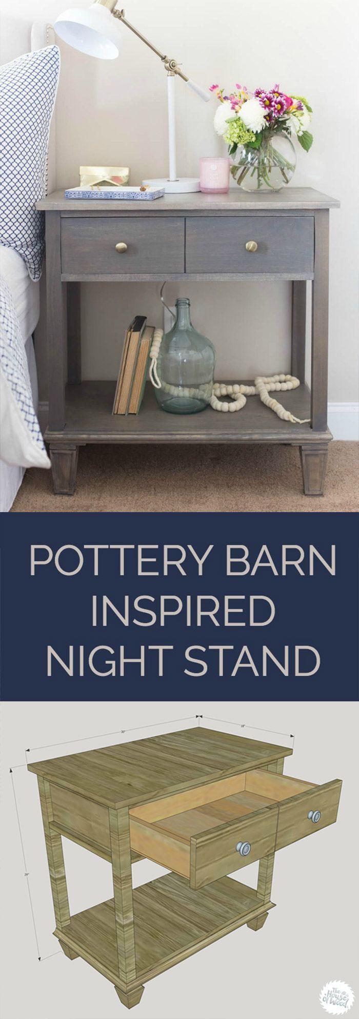 DIY Pottery BarnInspired Sausalito Bedside Table