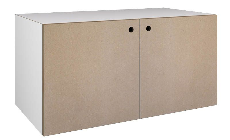 Modul 21 weiß mit Türen - stocubo Regalsystem, Würfelsystem - schrank wohnzimmer weiß
