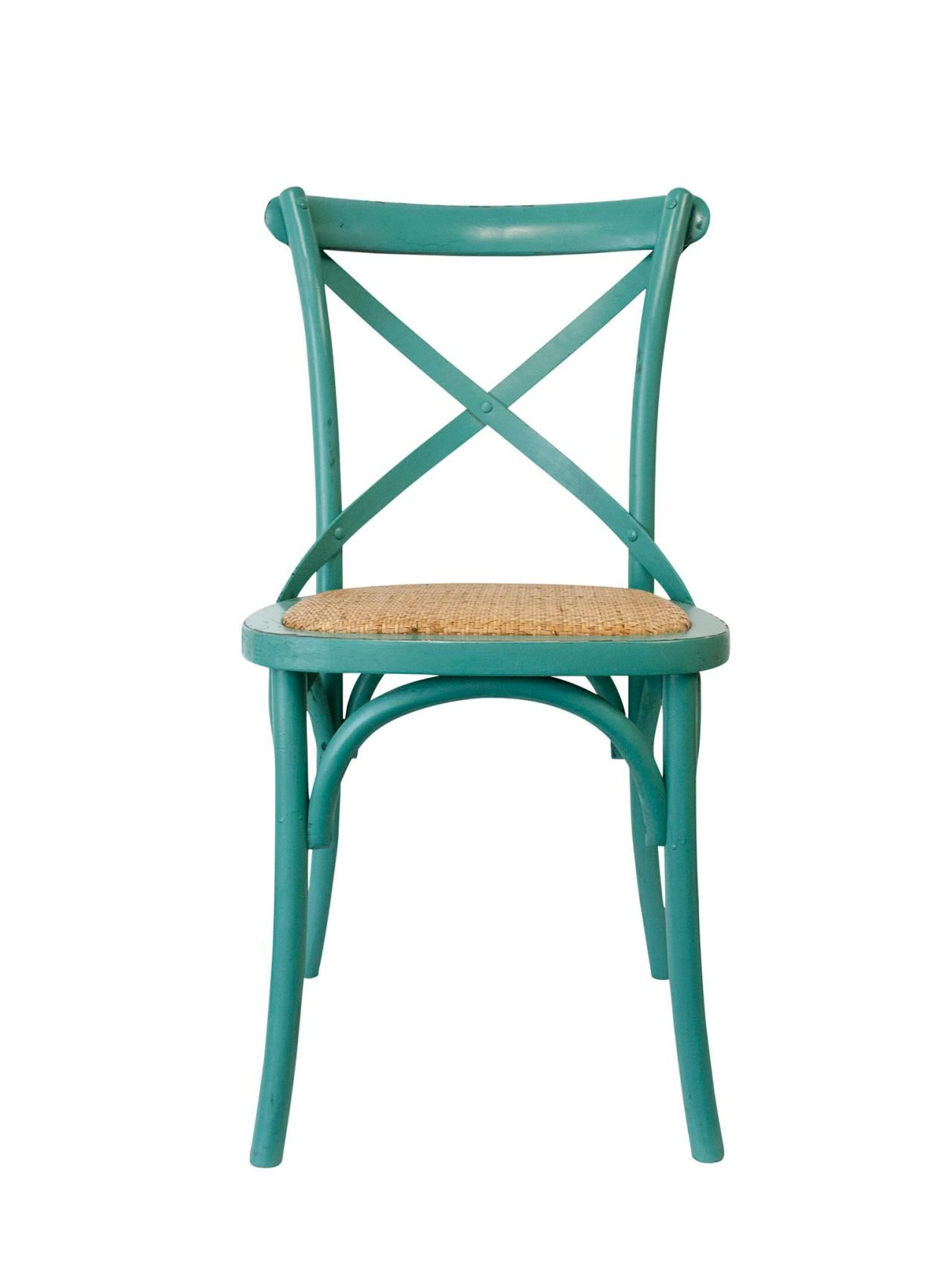 Pismo Saloon wood and wicker chair in teal, $129, urbanhome.com ...