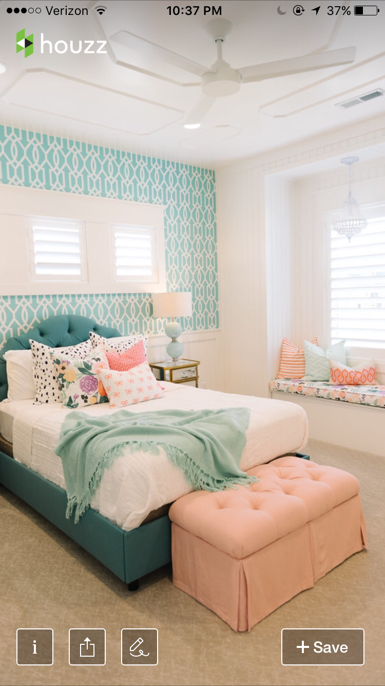 Beautiful Turquoise Bedroom Decoration Ideas & Designs #turquoise ...