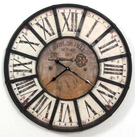 Wanduhr römische zahlen  Antik Uhr Wanduhr 60cm 59.90 | List for Home Renovierung ...