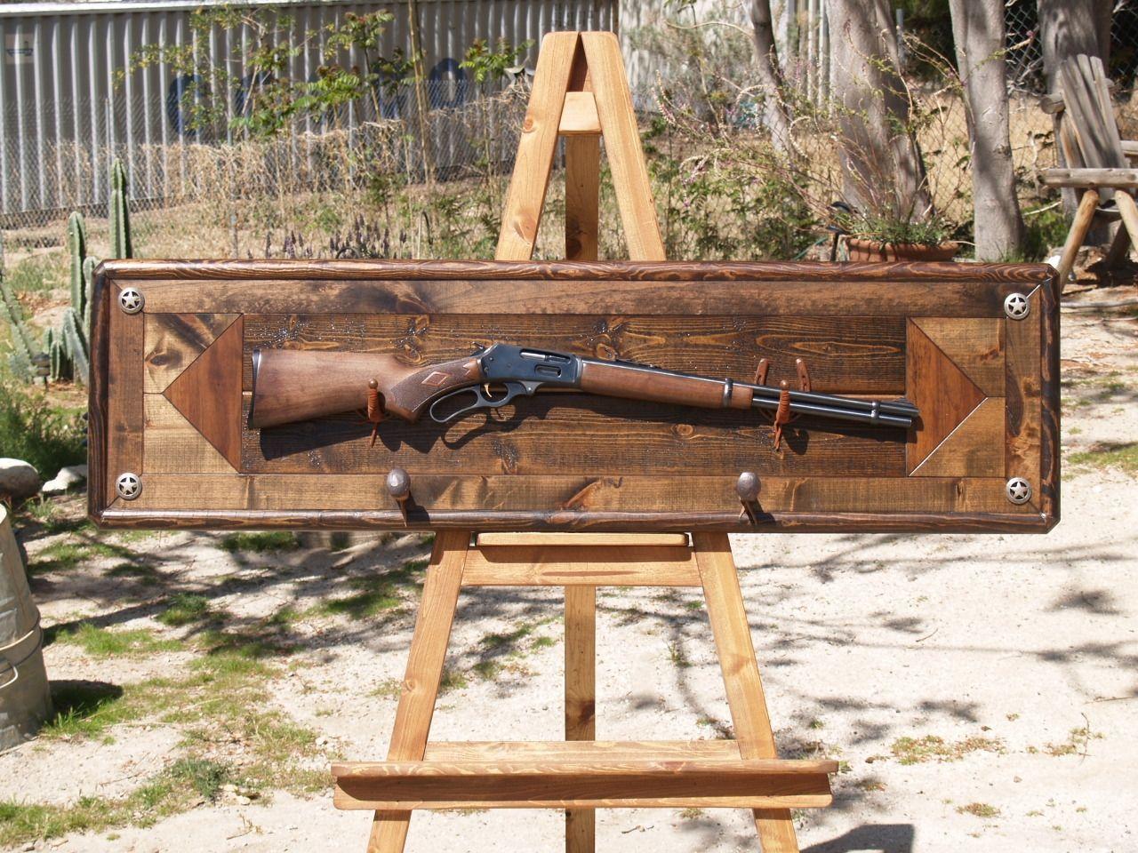 Double pistol handgun revolver gun display case cabinet rack shadowbox - Custom Made Gun Rack