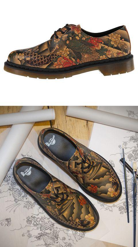 398b4748289f Tattoo print Dr. Martens 1461 3-Eye Shoe  drmartens  tattoo ...