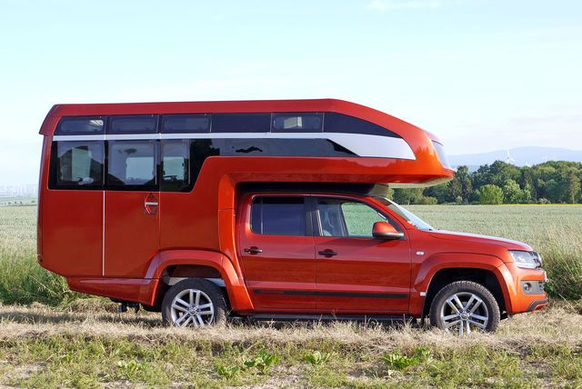 vw amarok wohnkabine kora glamping mit dem pickup biler. Black Bedroom Furniture Sets. Home Design Ideas