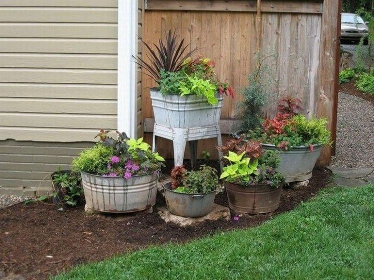 45 Creative Antique Garden Decor Ideas Page 47 Of 48 In 2020 Flower Garden Fairy Garden Designs Garden Decor