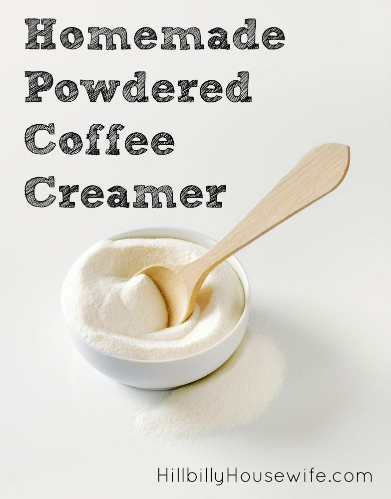 Homemade Powdered Coffee Creamer - Hillbilly Housewife #frenchvanillacreamerrecipe