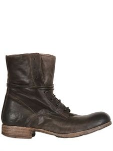 OFFICINE CREATIVE - 30MM CALFSKIN LACE UP BOOTS