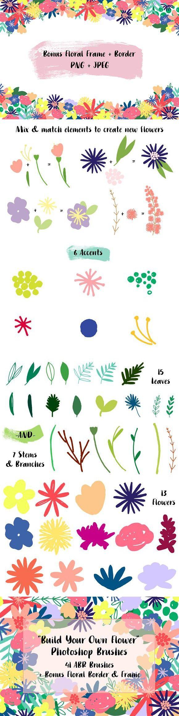 Digital Floral Photoshop Brushes | Pinterest | Photoshop and Adobe