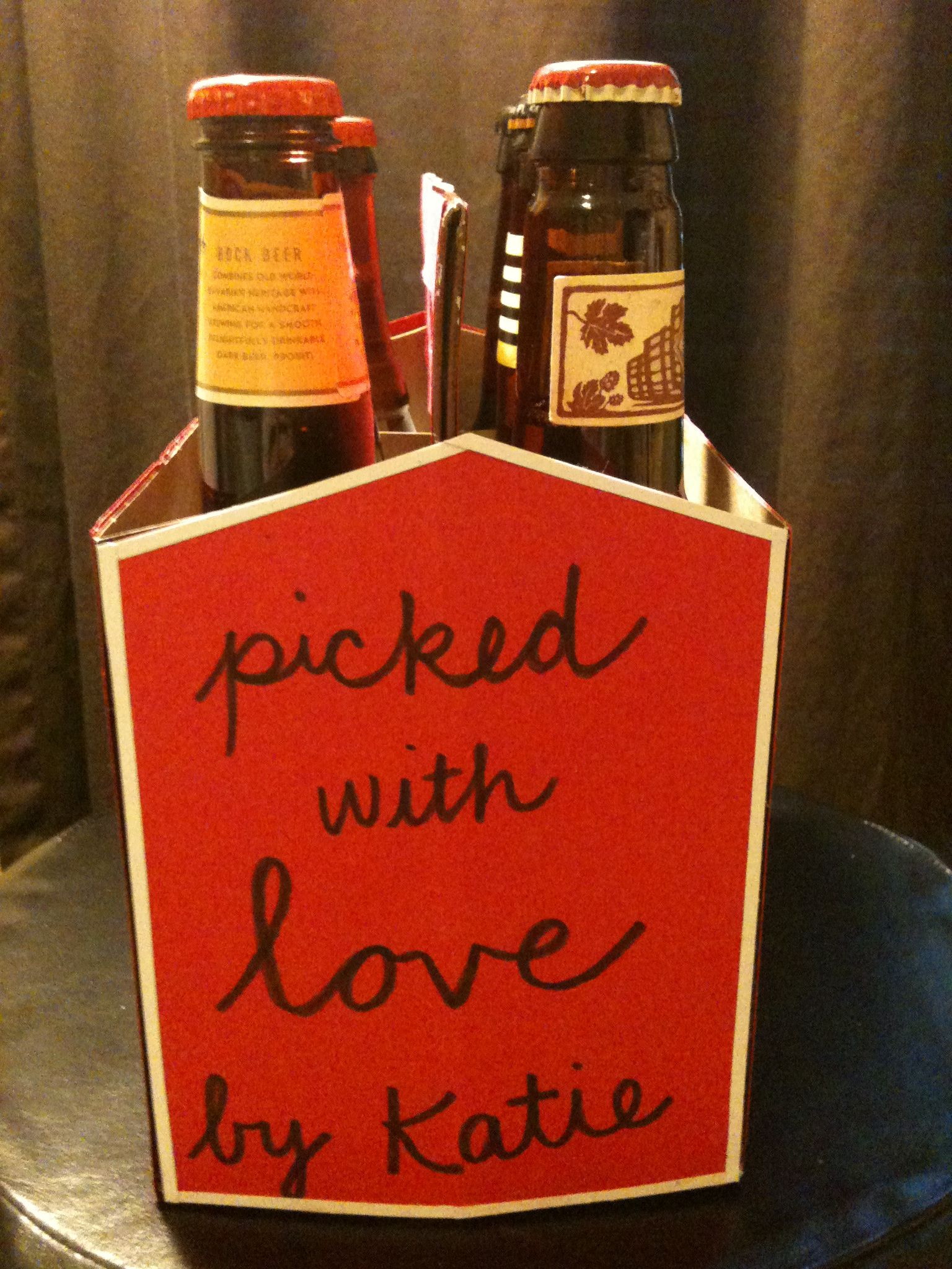 Build His Favorite 6 Pack U0026 Decorate The Beer Holder. Valentineu0027s Day Gift  ...