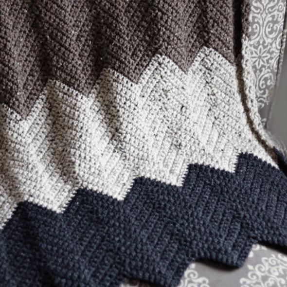 Chevron Crochet Blanket | Crochet | Pinterest