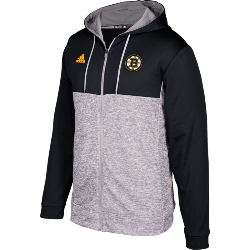 adidas Men's Boston Bruins Black/Grey Full-Zip Hoodie