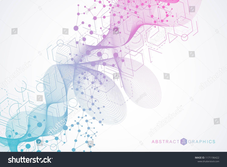 Big Data Visualization Background Modern Futuristic Virtual