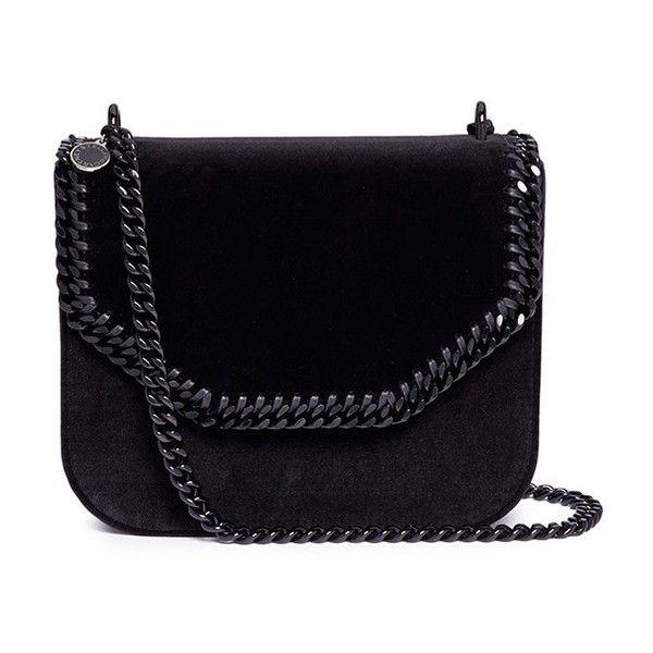 Stella McCartney  Falabella Box  chain strap velvet shoulder bag (23 385  ZAR) 9761b8ef38ef4