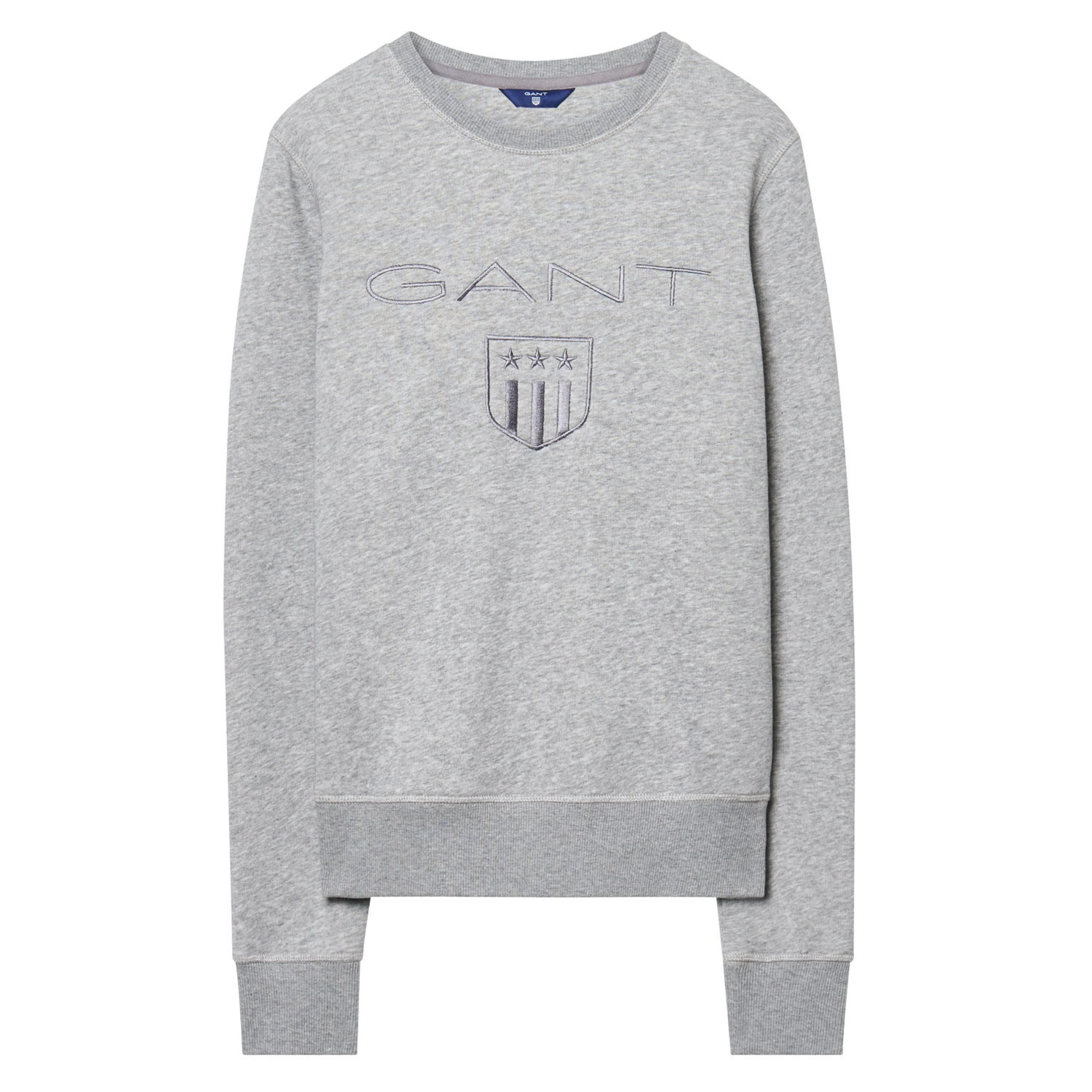 GANT SHIELD - Camiseta print - grey melange
