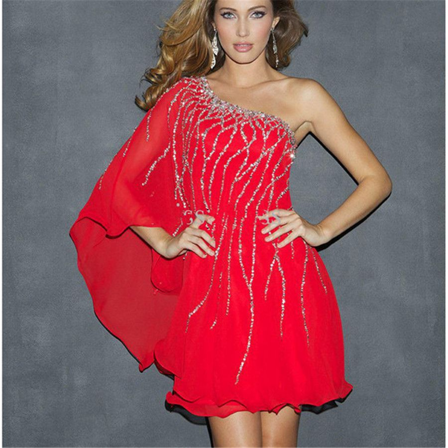Find more cocktail dresses information about cheap 2015 elegeant red find more cocktail dresses information about cheap 2015 elegeant red women clothes vestidos gown one shoulder ombrellifo Image collections