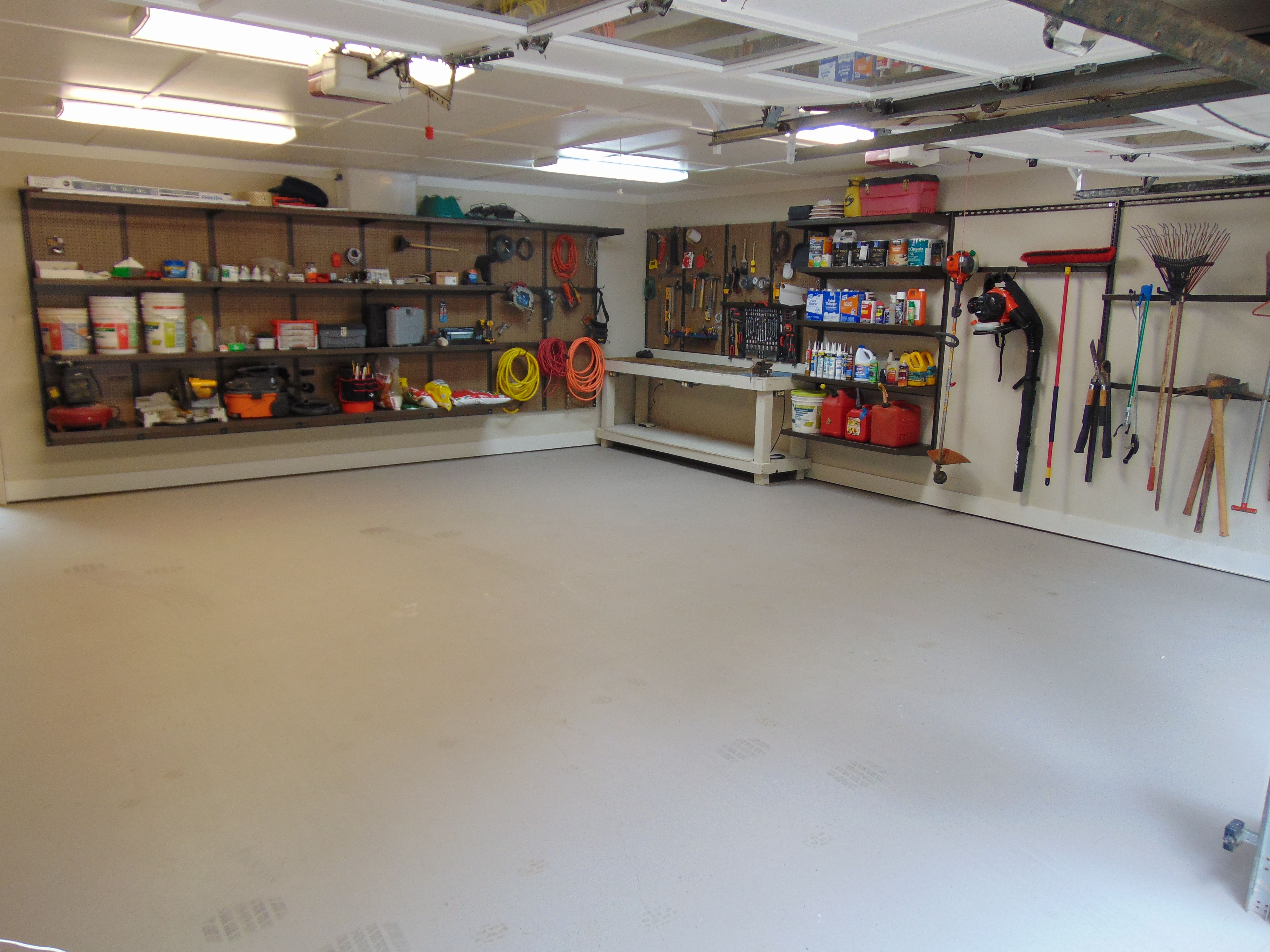 This customer 39 s 2 car garage needed a makeover he for Over car garage storage